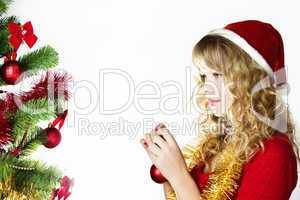 Blond christmas girl