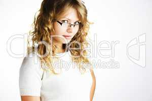 Young girl smiling with eyeglasses