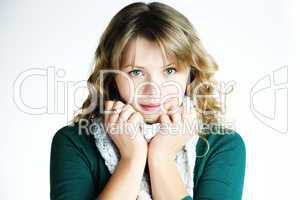 Beautifull young girl smiling