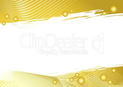 Goldener grafischer Hintergrund mit weißer Fläche