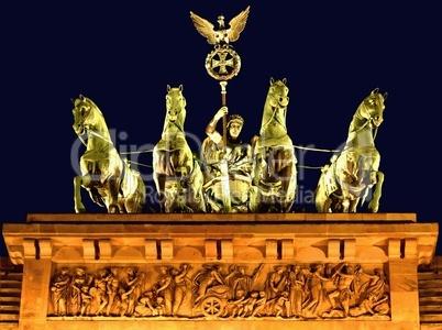 Quadriga auf dem Brandenburger Tor in Berlin