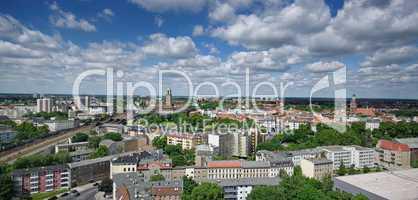 Panoramaaufnahme von Berlin mit dem Stadteil Spandau