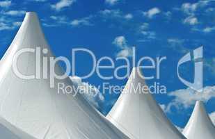 Zeltaufbauten zur Leichtathletik WM am Olympiastadion in Berlin