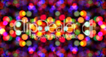 Colorful Abstract Blurry Background of Reflective Lights