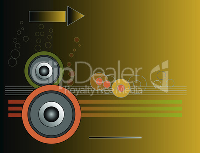 Music, disco themed vector