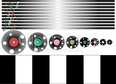 Music, disco themed vector