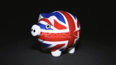 Britisch Sparschwein wird geschlachtet