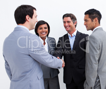 International business people closing a deal