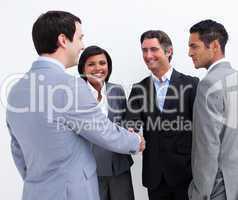 International business people closing a deal