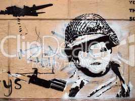 Streetart - Kinder im Krieg