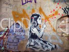 Streetart - Pusteblume