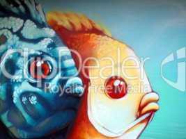 Graffiti - Fische