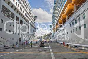 Cruise Ships in Saint Maarteen, Dutch Antilles