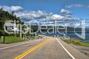 Road in Quebec, Canada