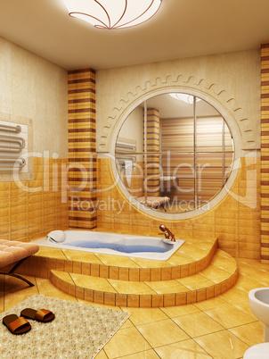 Morocco's style bathroom interioor