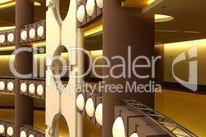 trade centre futuristic interior