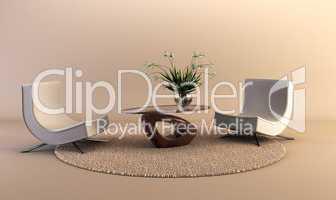 modern style lounge room