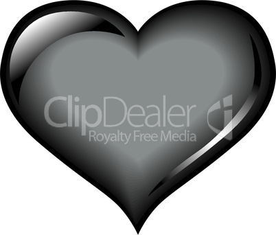 Black glossy heart