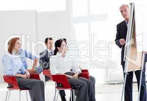 business people at a seminar