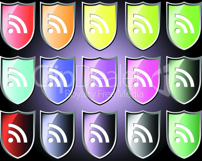 Shield icon with RSS