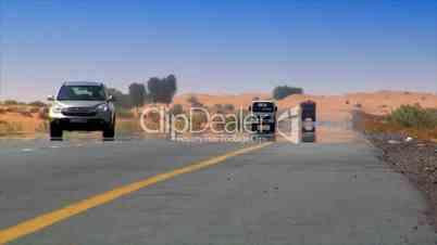 car desert heat haze
