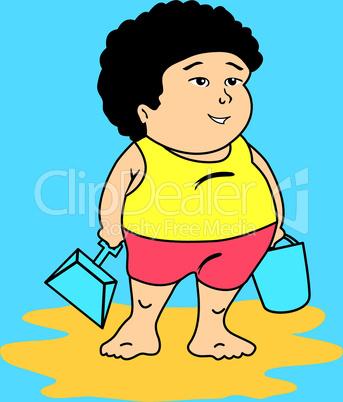 Fat white boy