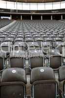 Sitzreihen im Olympiastadion in Berlin