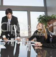 Drei erfolgreiche Businessleute