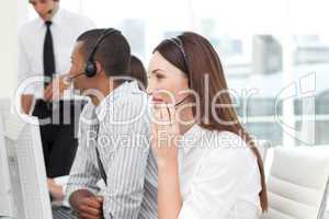 business group in a call center