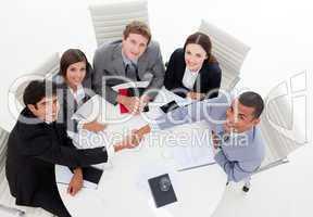 A diverse business group