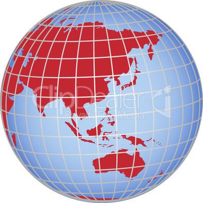 Globus Asien Australien