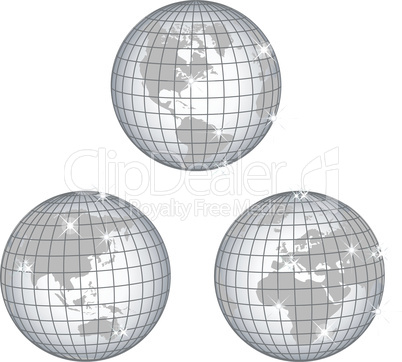 Globus Afrika, Australien USA