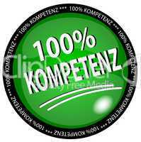 100% Kompetenz Button