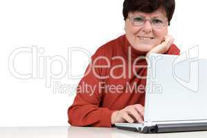 Senior woman with a notebook