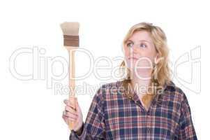 Craftswoman with brush