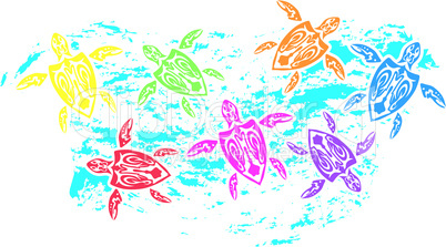 Colorfully Turtles