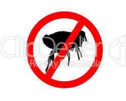 Verbotschild für Flöhe