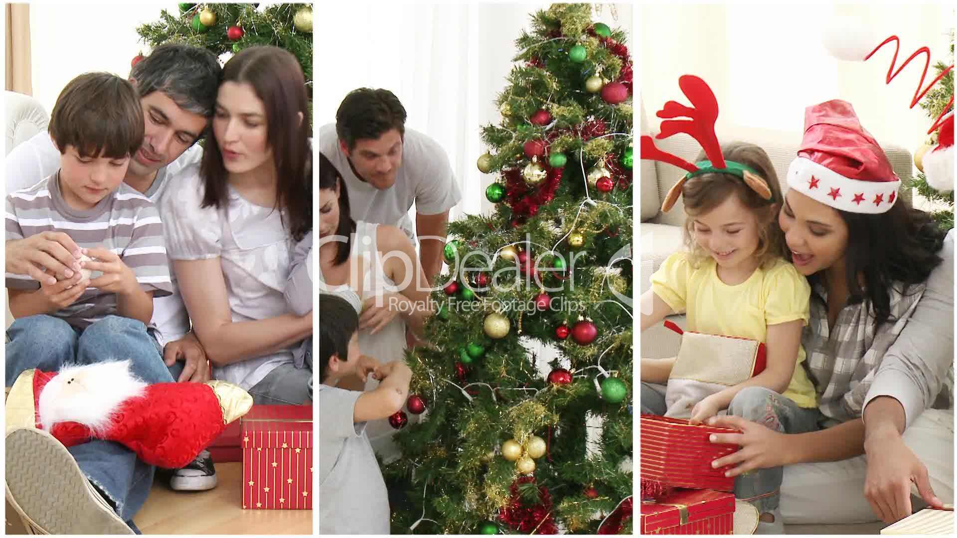 weihnachten mit familie royalty free video and stock footage. Black Bedroom Furniture Sets. Home Design Ideas
