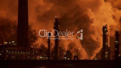 Industrie, Rauch bei Nacht