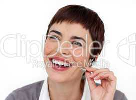 customer service using headset