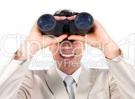 Visionary businessman predicting future success