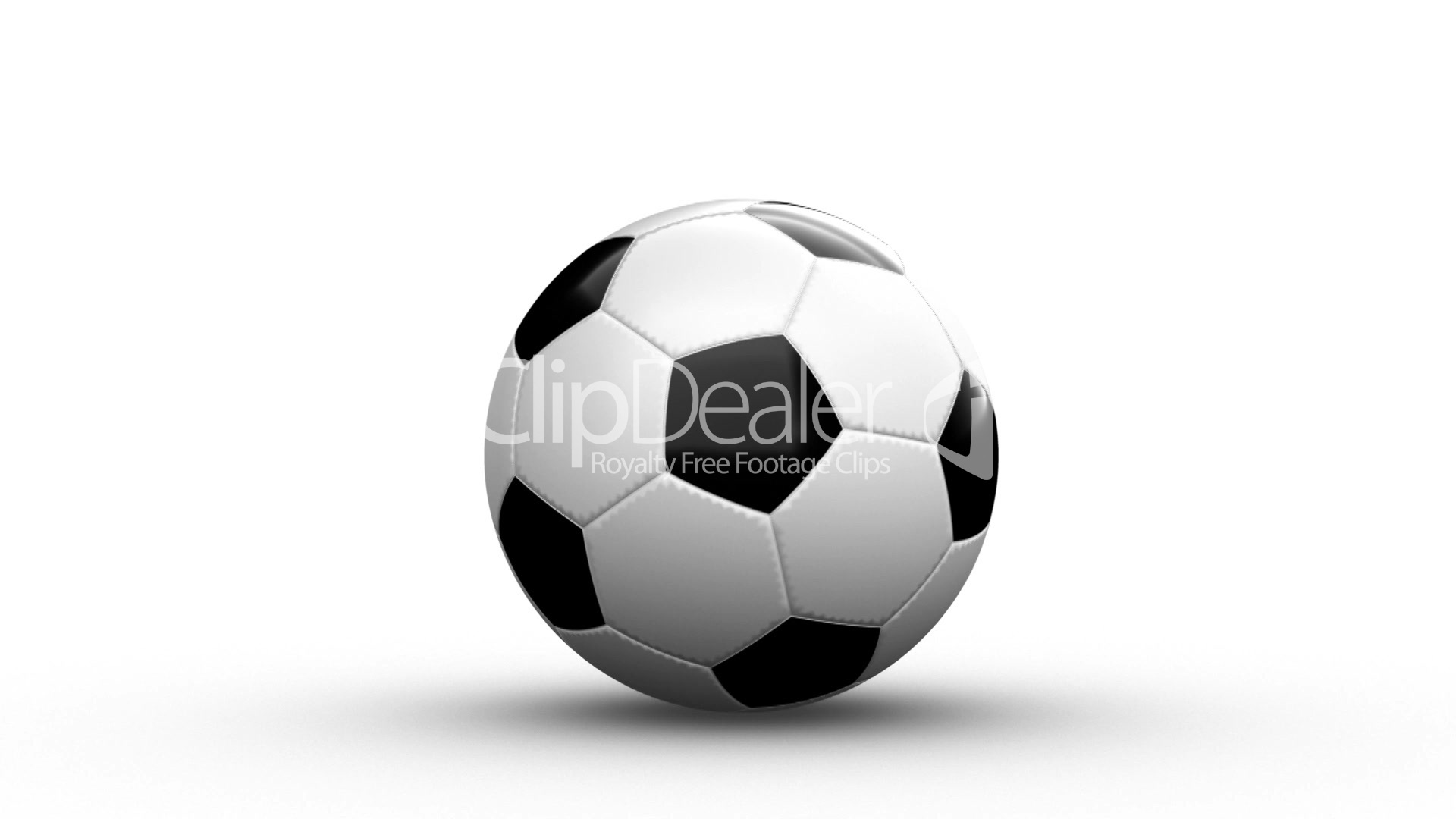 Cgi Soccer Ball Loops Alpha Channel Royalty Free Video