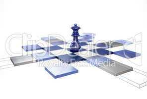 3D Chess Strategy Queen