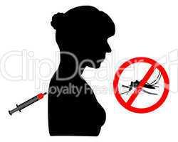 Frau bekommt eine Impfung gegen Malaria