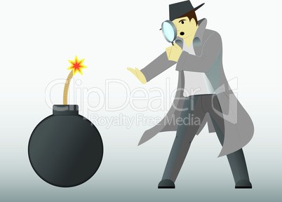 Detectie discovering a bomb