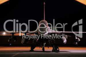 F-16s cover coalition convoys