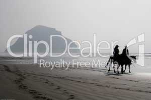 Horse Riders on Morro Strand State Beach