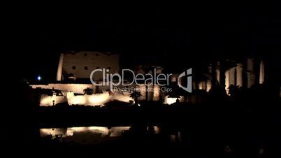 Karnak Tempel bei Nacht, Ägypten