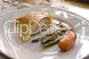 Chicken breast in flaky pastry