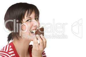 Frau mit Mohrenkopf